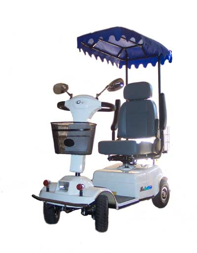 OSI Sun Shade Scooter Canopy with Rear Utility Basket